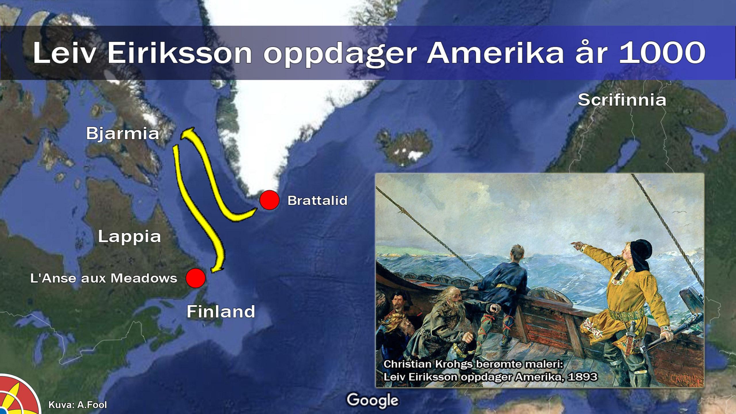 Leiv Eiriksson oppdager Amerika